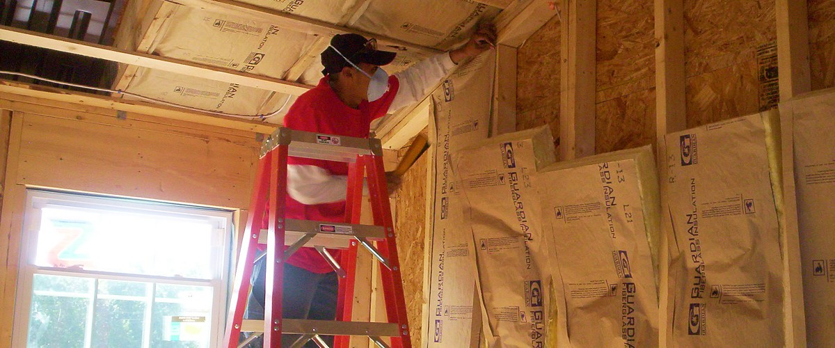Spray foam insulation installer