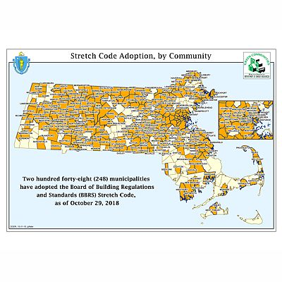 Massachusetts Stretch Code Town Map