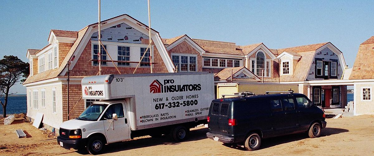 Pro Insulators truck at new construction jobsite